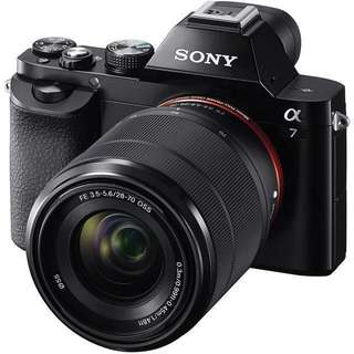 Sony A7 Mirrorless camera WITH KIT LENS