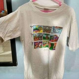 Baju kaos rumahan putih