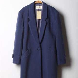 日本 古著 深藍色冬天大衣