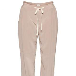Aritzia Wilfred 100% silk Marais pants