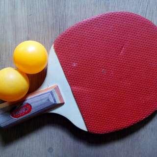 Pingpong raket (2 balls included)