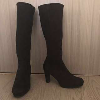 Genuine Suede Browns Couture Boots 38