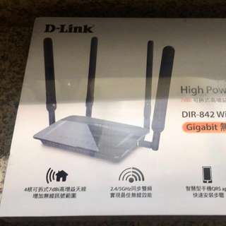 D Link DIR-842 無限分享器 無限路由器 AC1200 雙頻 Gigabit