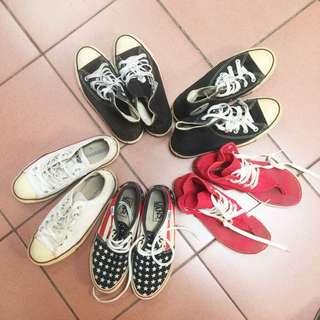 帆布鞋 涼鞋 vans