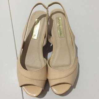 Marie Claire Nude Wedges