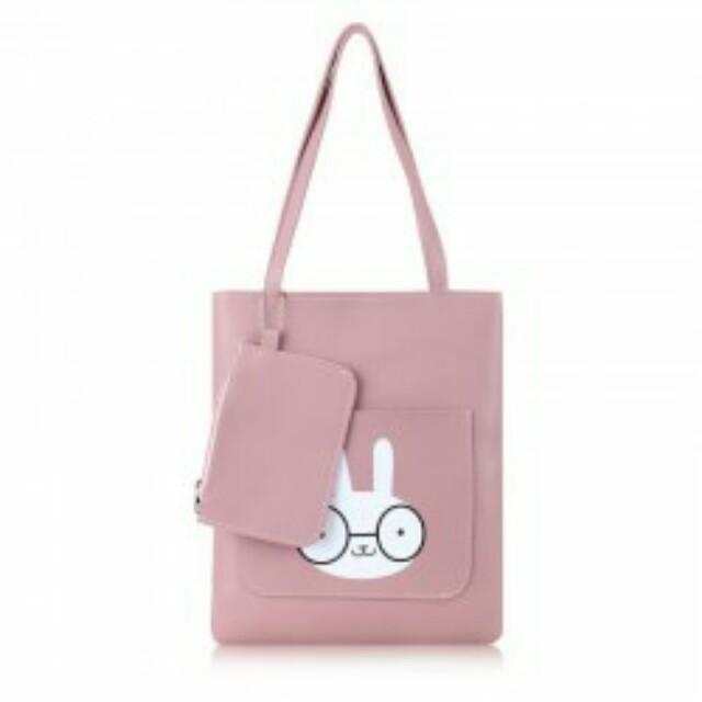 2IN1 Nerdie Rabbit Shoulder Bag