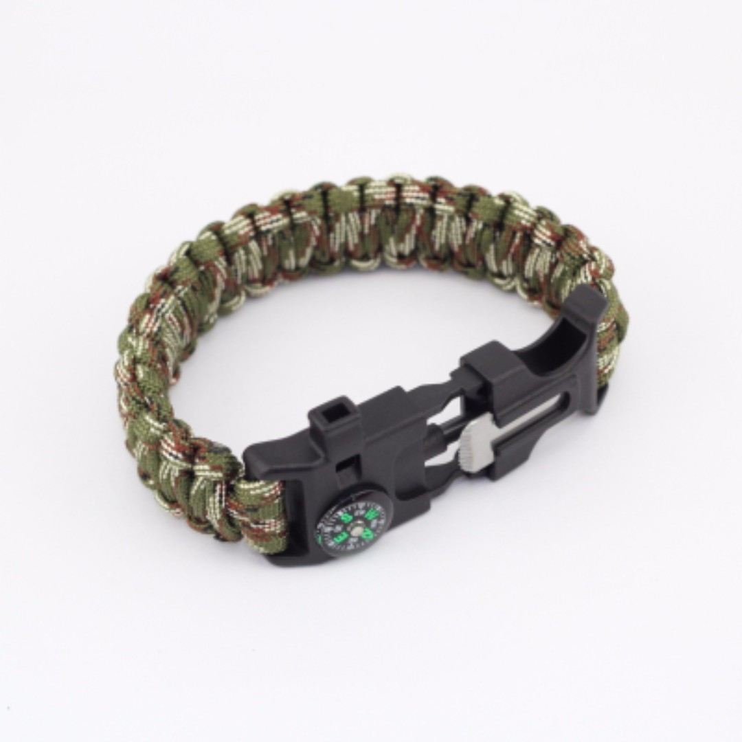5 In 1 550 Outdoor Tactical Survival Gear Escape Paracord Bracelet