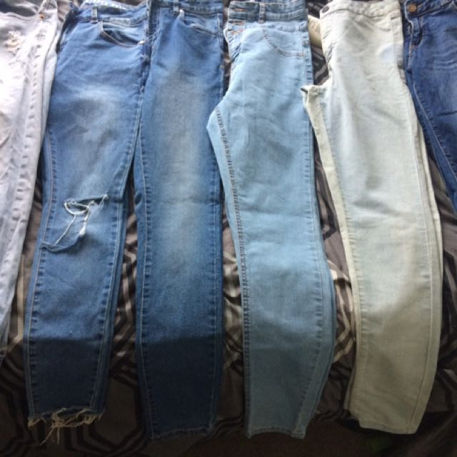 6 pairs of jeans all for $30