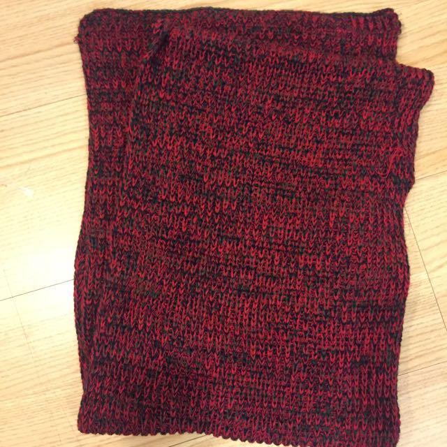 暖暖的圍巾(酒紅