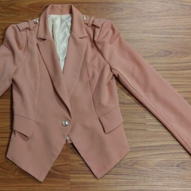 韓版粉色外套#外套特賣