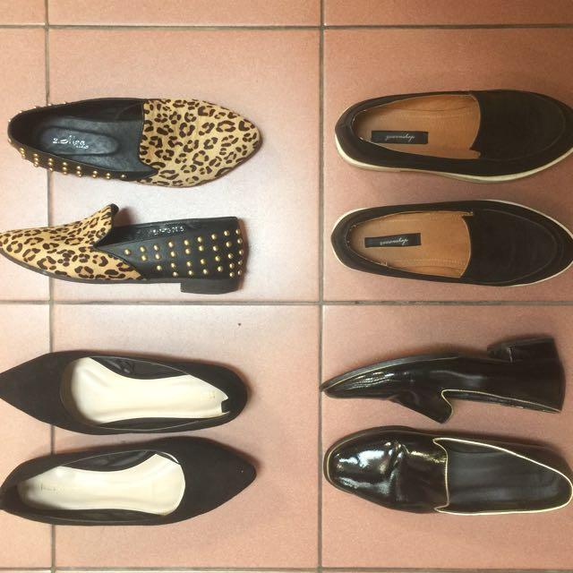 平底包鞋 尖頭鞋 娃娃厚底鞋