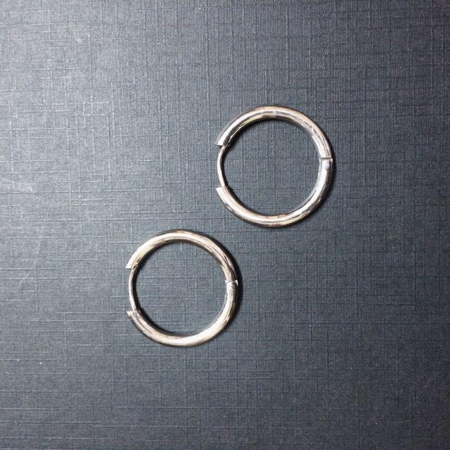 全新 醫療鋼 銀色粗款 大圓圈耳環 男女款