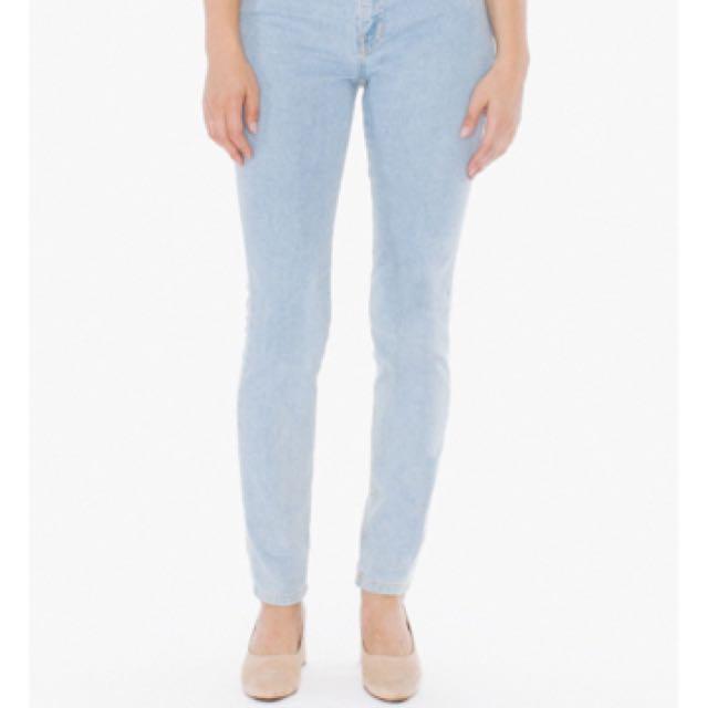 American Apparel pencil jeans
