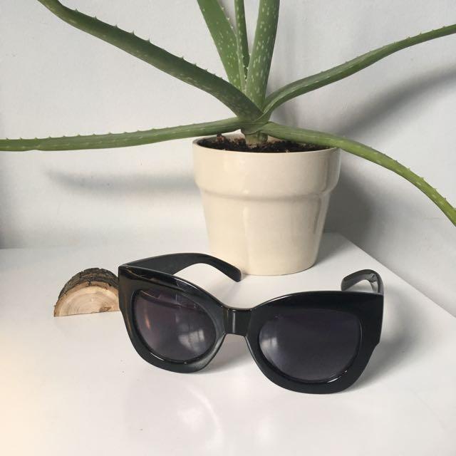 Anthropologie Black Cateye Sunglasses