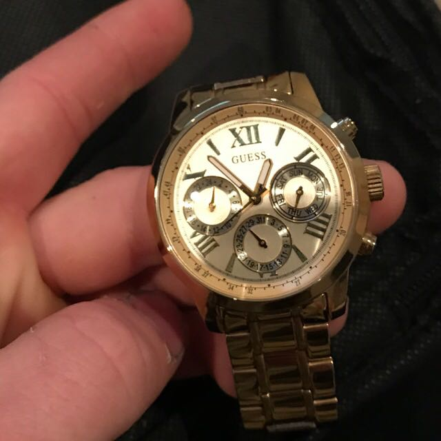Authentic Gold Guess watch. (Men's)