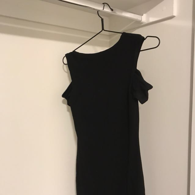 BARDOT | black off shoulder dress