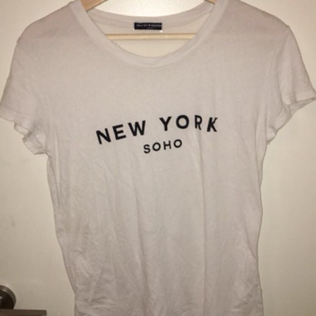 basic white t shirt brandy melville