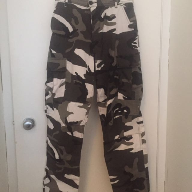 Black and Grey Camo Pants