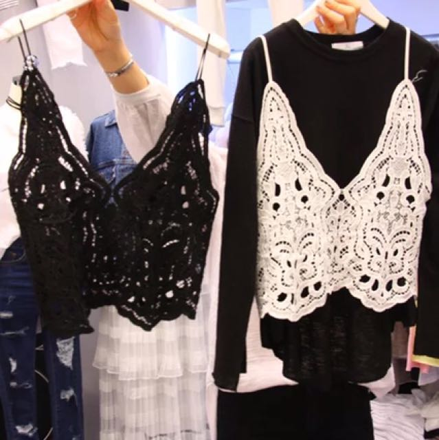 Black new Lace top