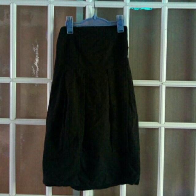 Black Textured Tube Dress