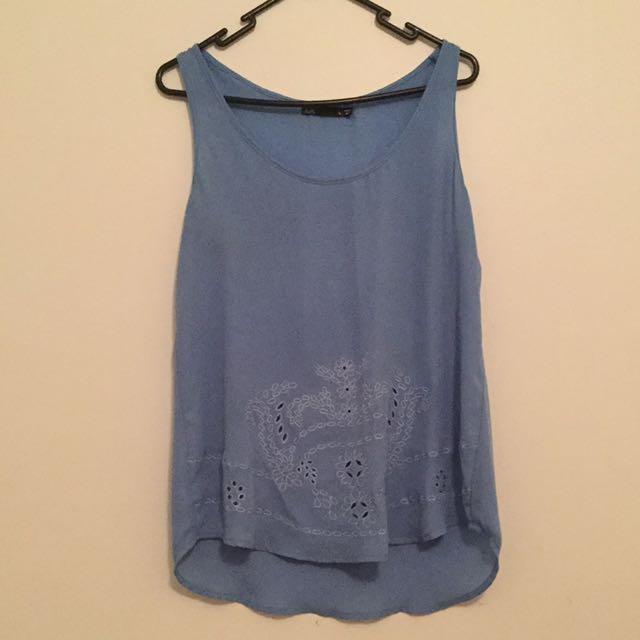 Blue dotti singlet size 10