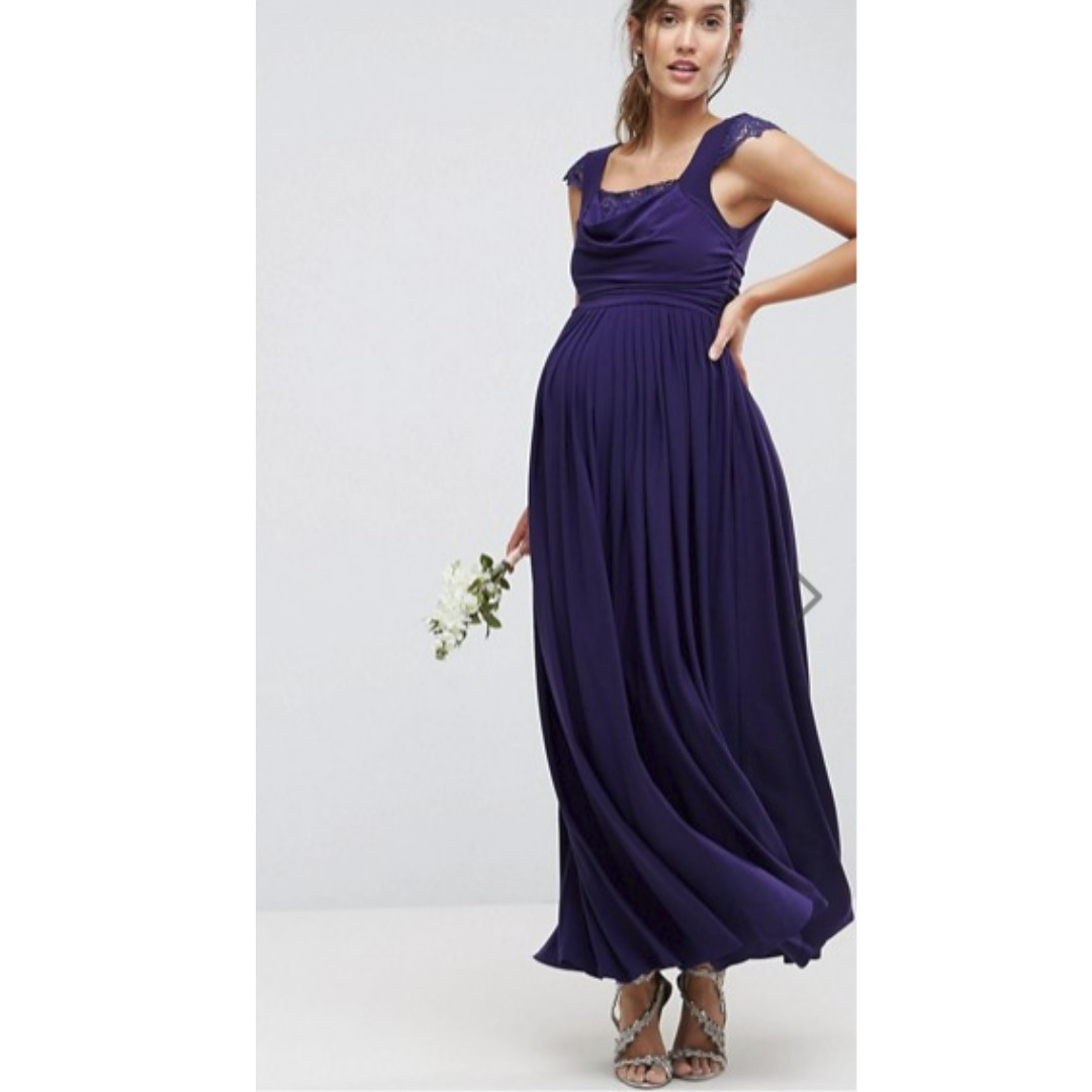 b0a818daaff BNIB - ASOS Maternity WEDDING Lace Insert Cowl Maxi Dress - UK 6 ...