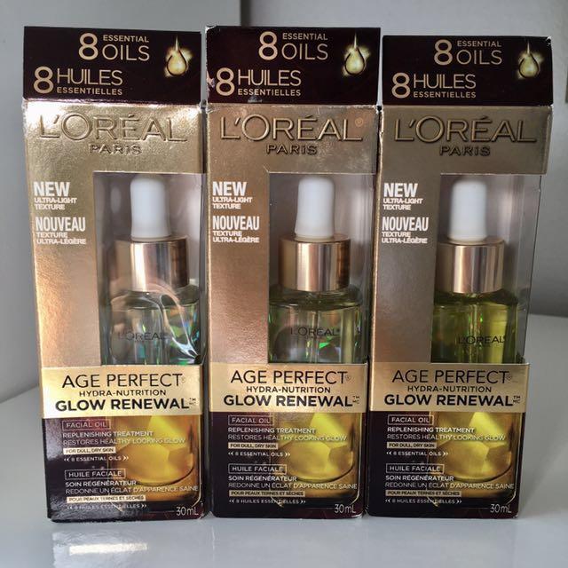 BNIB L'Oreal Glow Renewal Face Oil