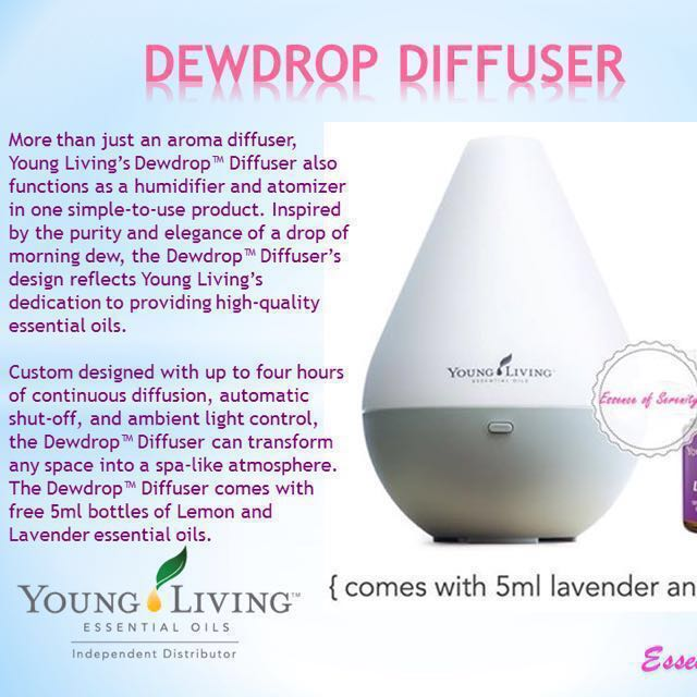 Bnib Young Living Dewdrop Essential Oil Ultrasonic Diffuser Health