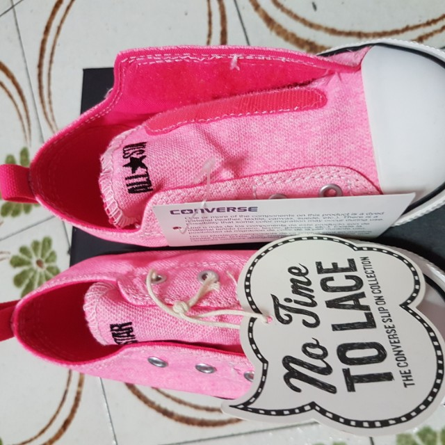 e8859ef5d982 Brand New   Converse Infant size 10 C T Simple Slip Neo Neon Pink ...