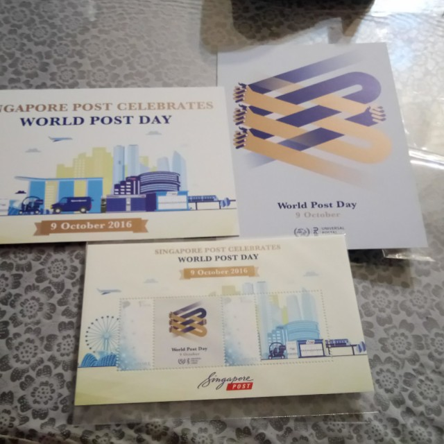 Brand New Collectibles Singapore Post World Post Day Stamps & Postcard