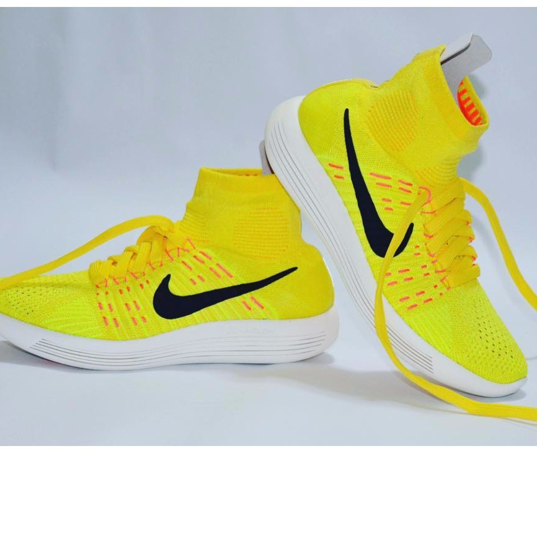 online store 2c768 696bb Brand new Nike Lunarepic Flyknit in yellow strike on Carousell