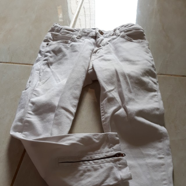 Celana zara kids asli white size 4-5years old