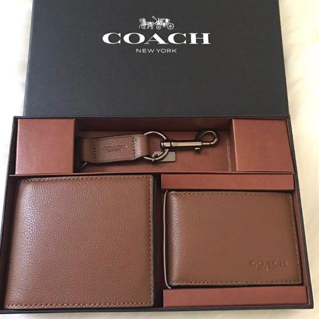 af6b92d69728 ... czech coach men gift set wallet brown mens fashion bags wallets on  carousell 9b3f0 5387e