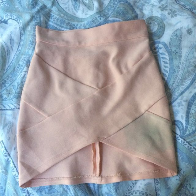 Coral Wrap Skirt
