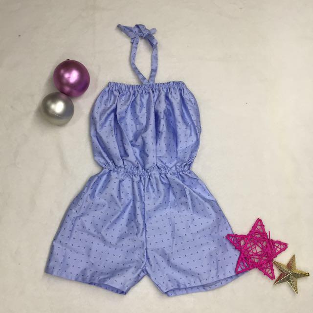 Cute Blue Kid's Romper Suit