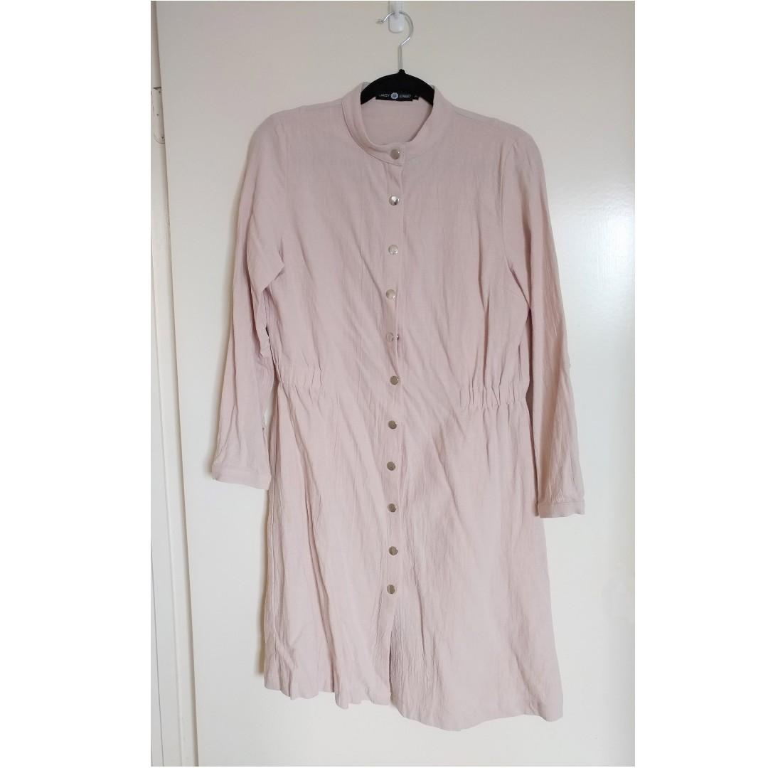 Daisy Street Women's AU10 Dusty Pink Cotton Dress or Coat