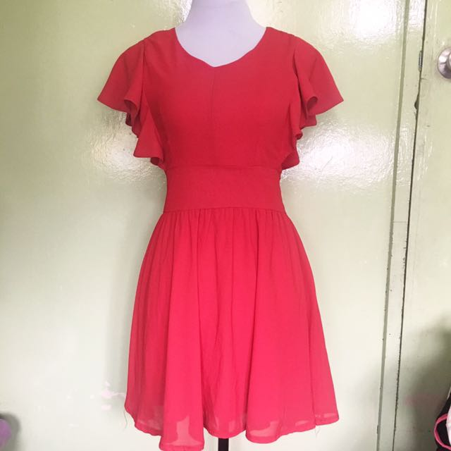 Dark Red Dress Size: S-M