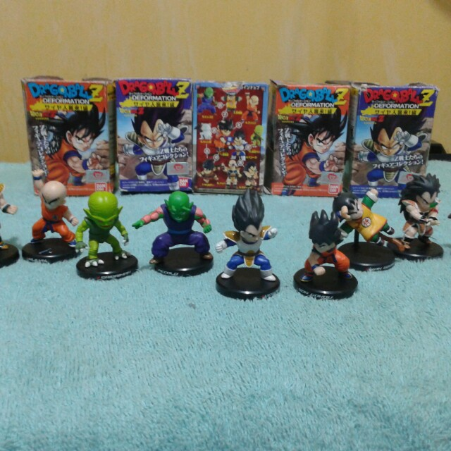 SALE!!! Dragonball Z Deformation Figure Set of 10 (1k today)