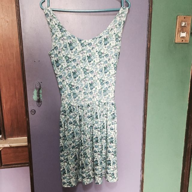 Floral Dress (Light Blue)