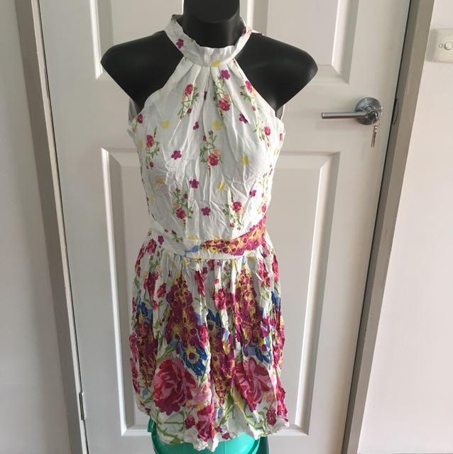 Floral Halter Dress Size 6