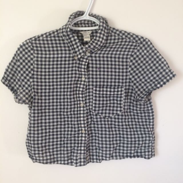 Forever21 button up crop top