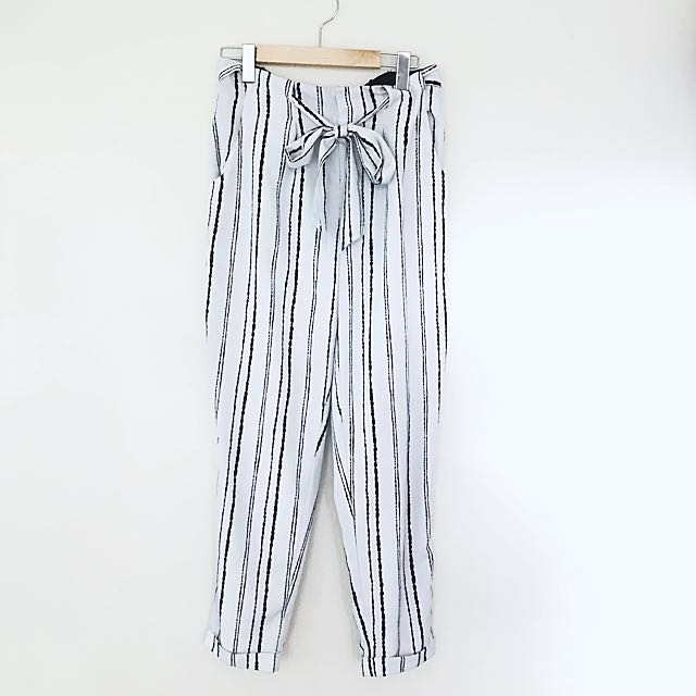 Forever 21 High Waisted Tie Pants