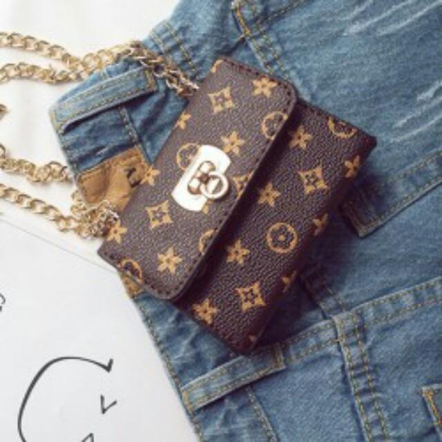 Golden Chain Mini Kids Bag Elegnat