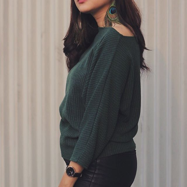 Green knitted