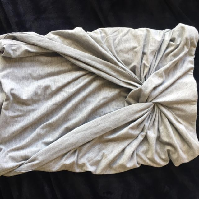 Grey ruched mini skirt size 8 #under30