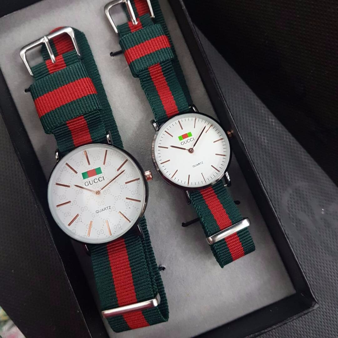 Gucci Couple Limited Edition Watch Mens Fashion Watches On Carousell Jam Tangan Swatch Original 100  Yes4008 Go Red Black Ampamp