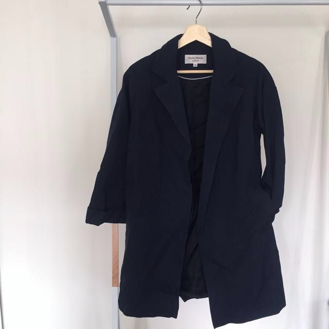Helene Berman Navy Peacoat
