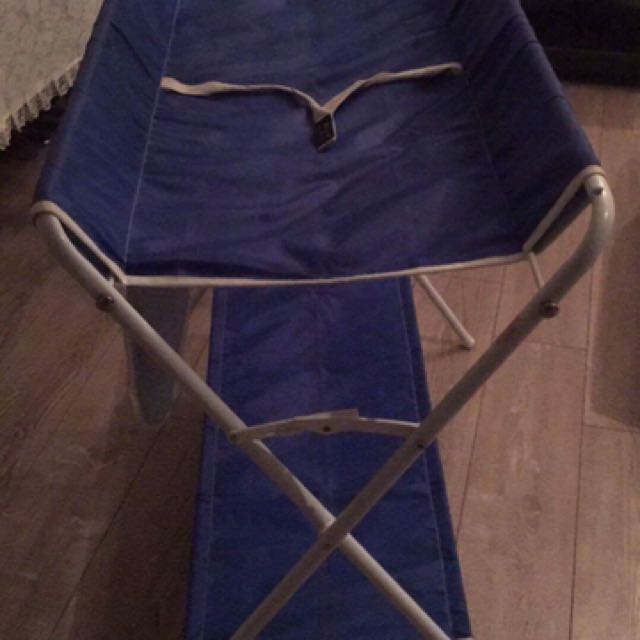 High chair, toy jumper, changing table all from BABY FACTORY