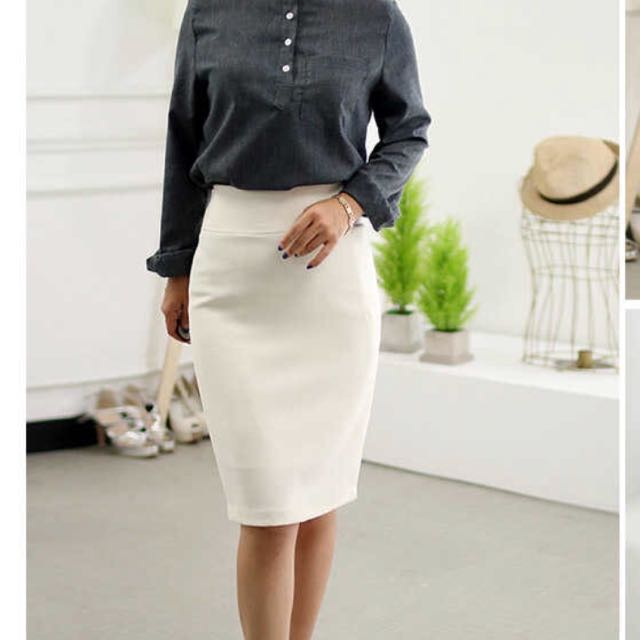 29963c0e2b Ivory OL Korean skirt, Women's Fashion, Clothes, Dresses & Skirts on ...