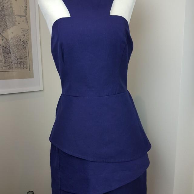 Keepsake peplum fitted dress M
